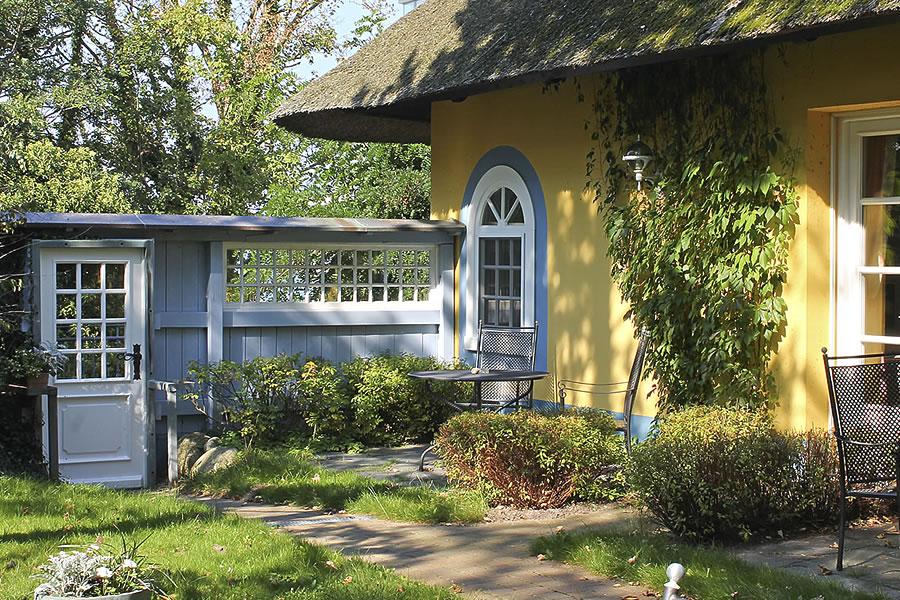 Gästehaus Bergfalke: Kleine Terrassen zur Südseite