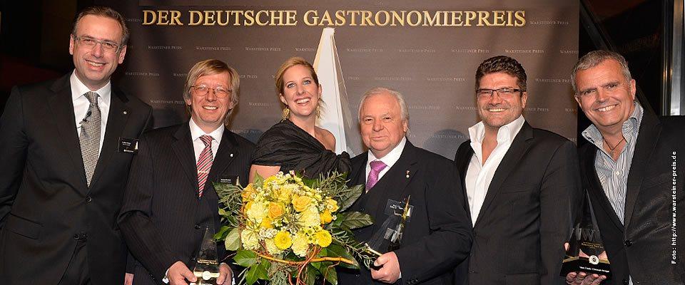 Gewinner Deutscher Gastronomiepreis 2012, Roland Fischer 2. von links