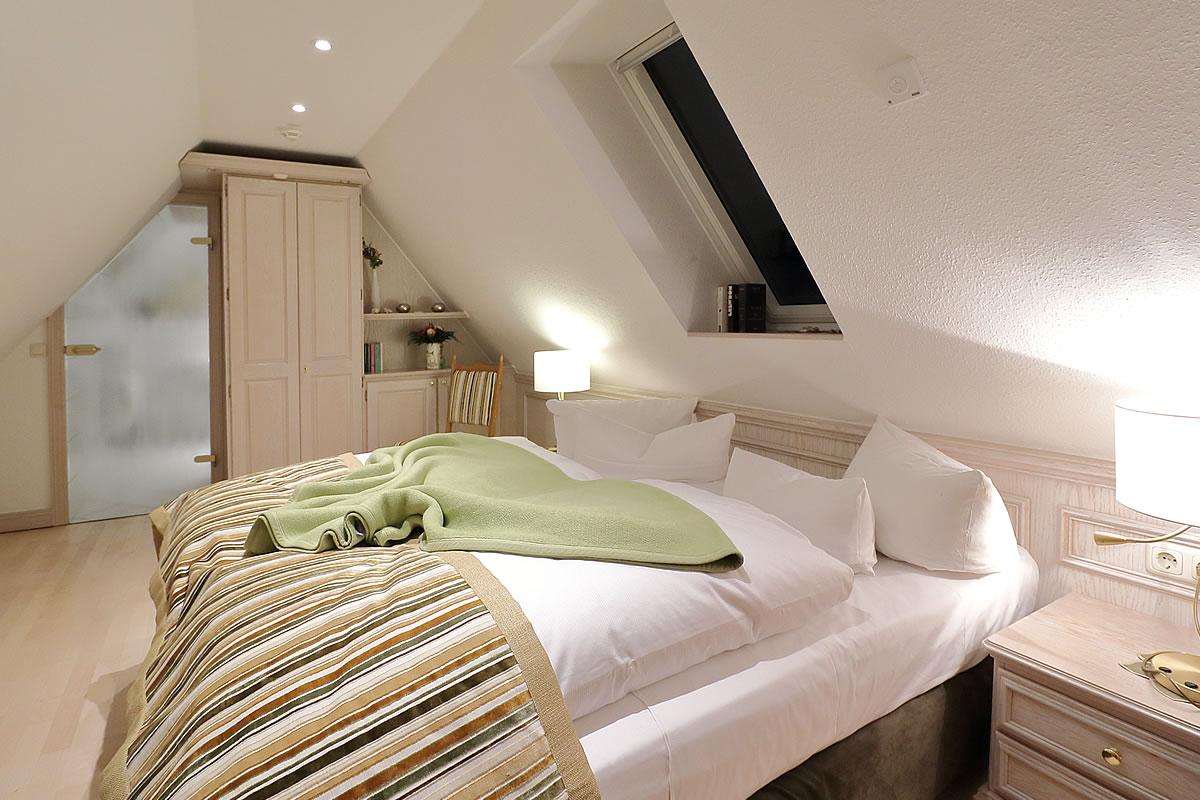 Schlafbereich oben, Kapitänssuite, Hotel Fischerwiege