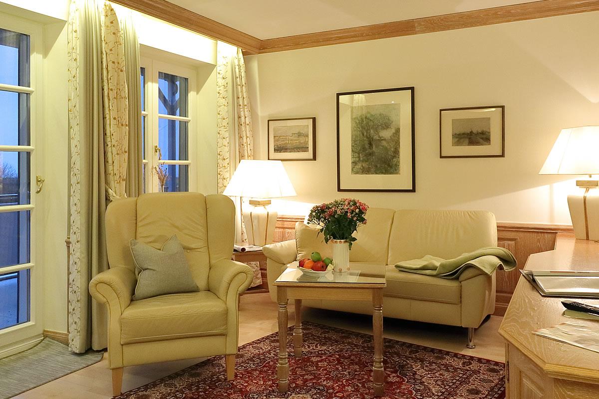 Wohnbereich in Suite, Hotel Fischerwiege