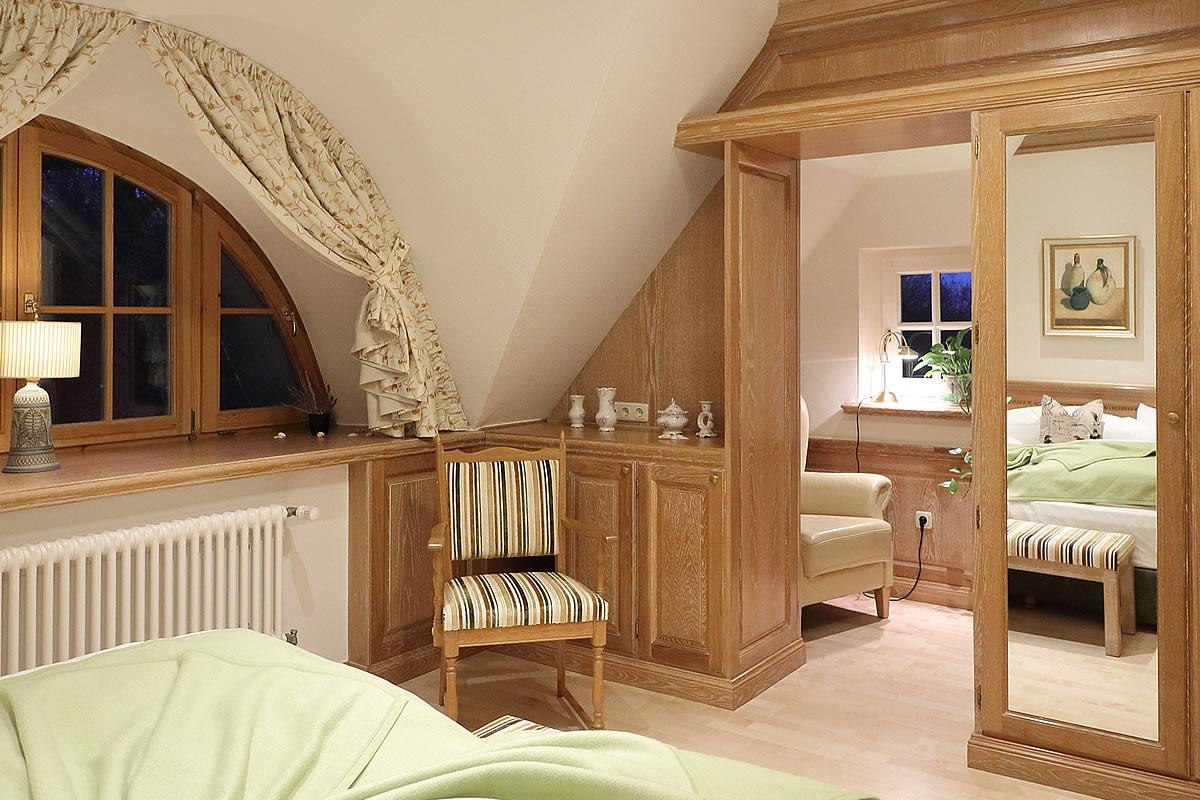 Schlafzimmer in Suite, Hotel Fischerwiege