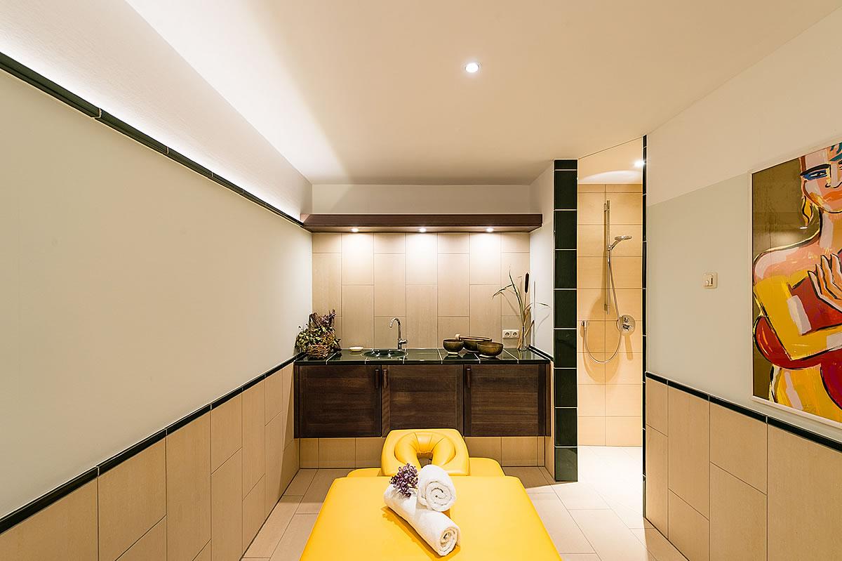 Massageraum im Wellnessbereich, Hotel Fischerwiege
