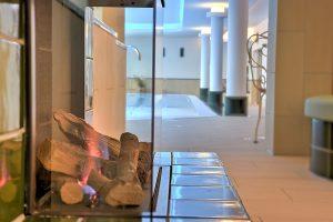 Kamin im Wellnessbereich, Hotel Fischerwiege