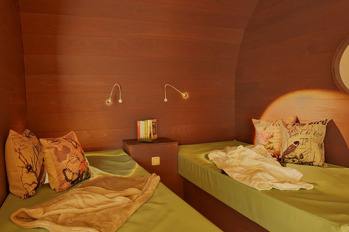 Ruhekojen mit Wärme-Wasserbetten, Hotel Fischerwiege