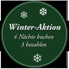 Winter-Aktion. 4 Nächte buchen - 3 bezahlen. Gilt für Suiten u Juniorsuiten, noch bis 30.3.2017
