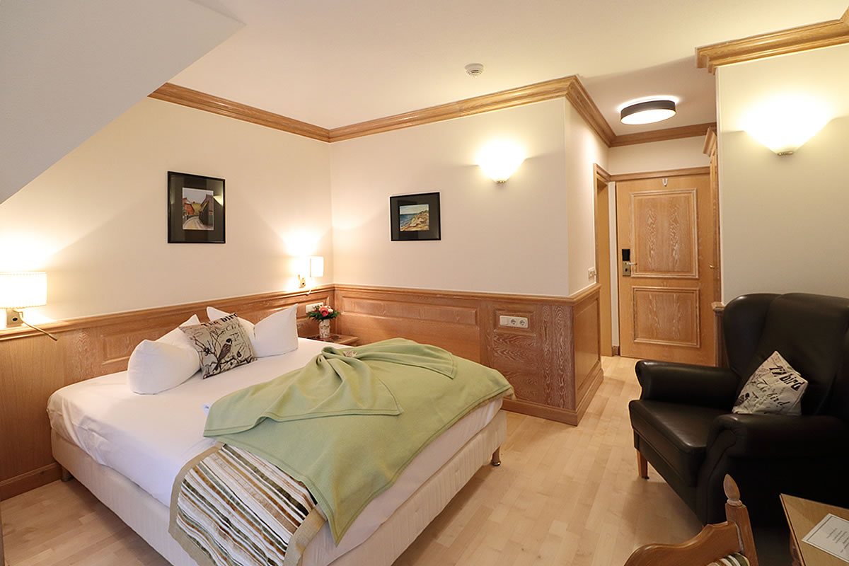 Schlafbereich in Einzelzimmer, Haus Fischerwiege