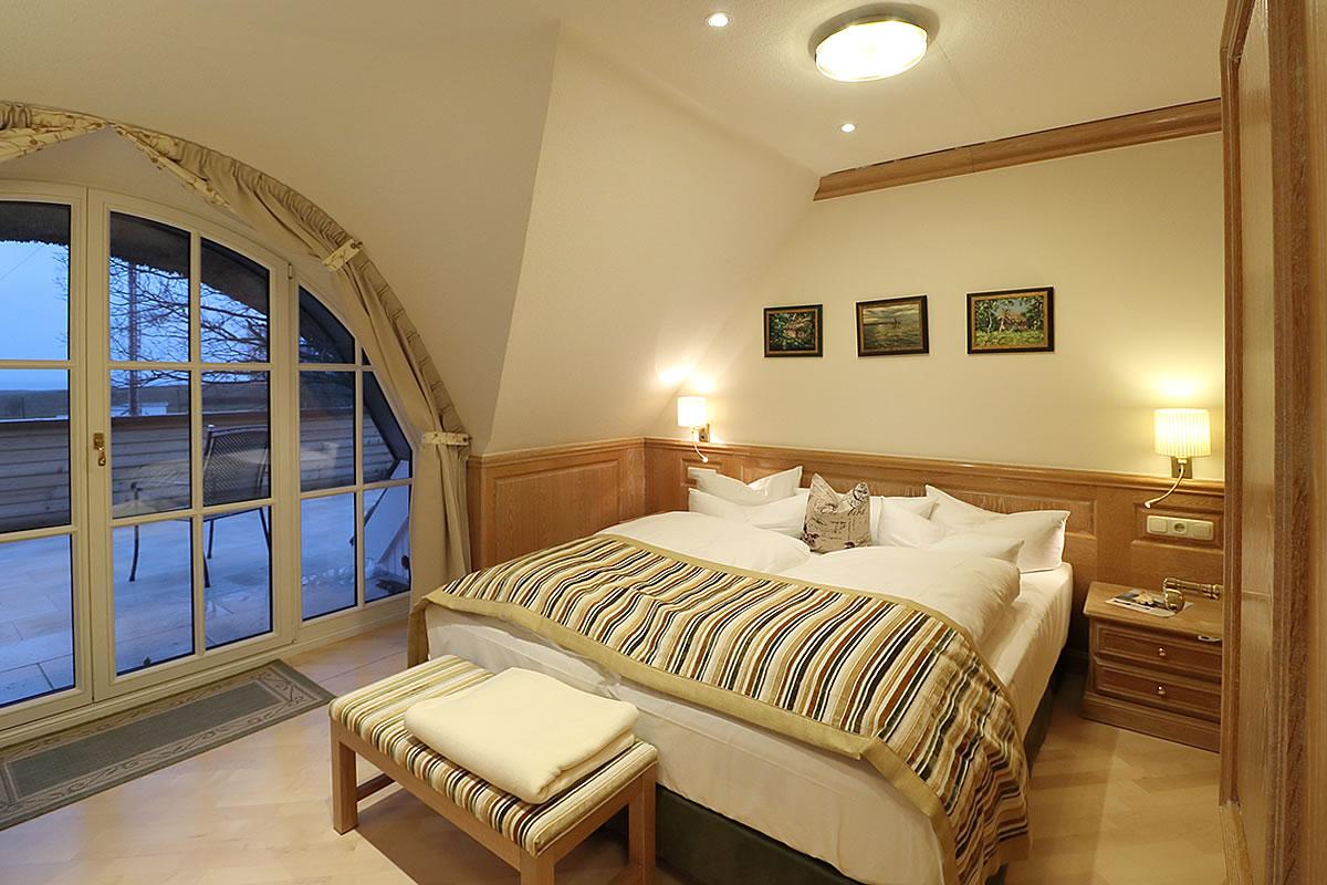 Schlafraum in Suite