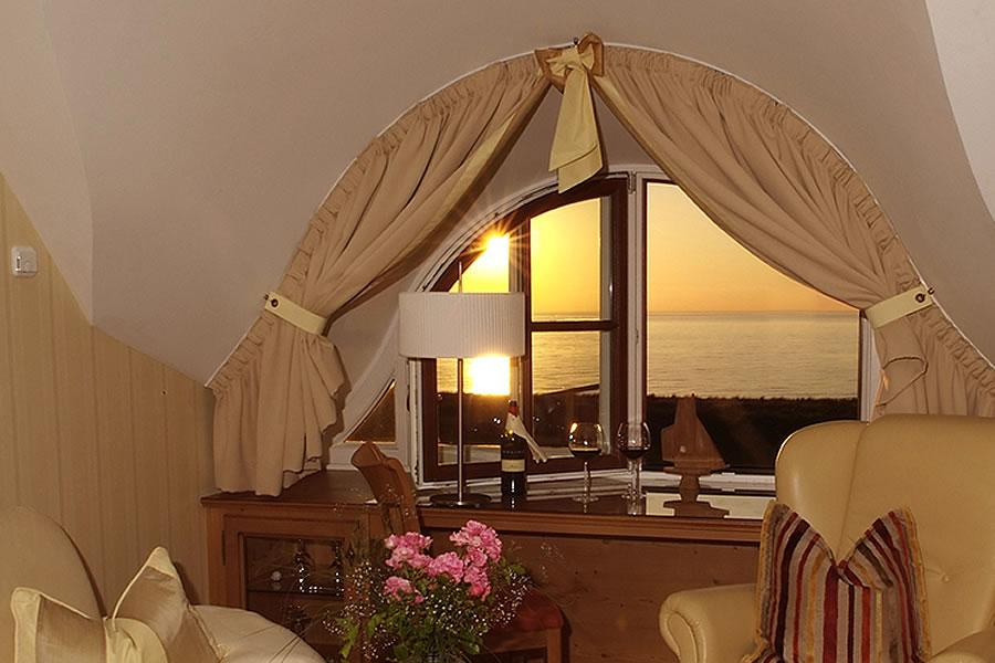 Hotelzimmer mit Meerblick
