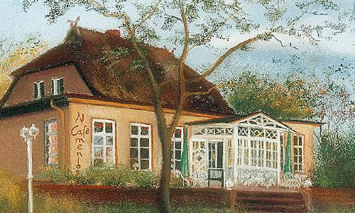 Cafè Namenlos, gemalt vor der letzten Sanierung