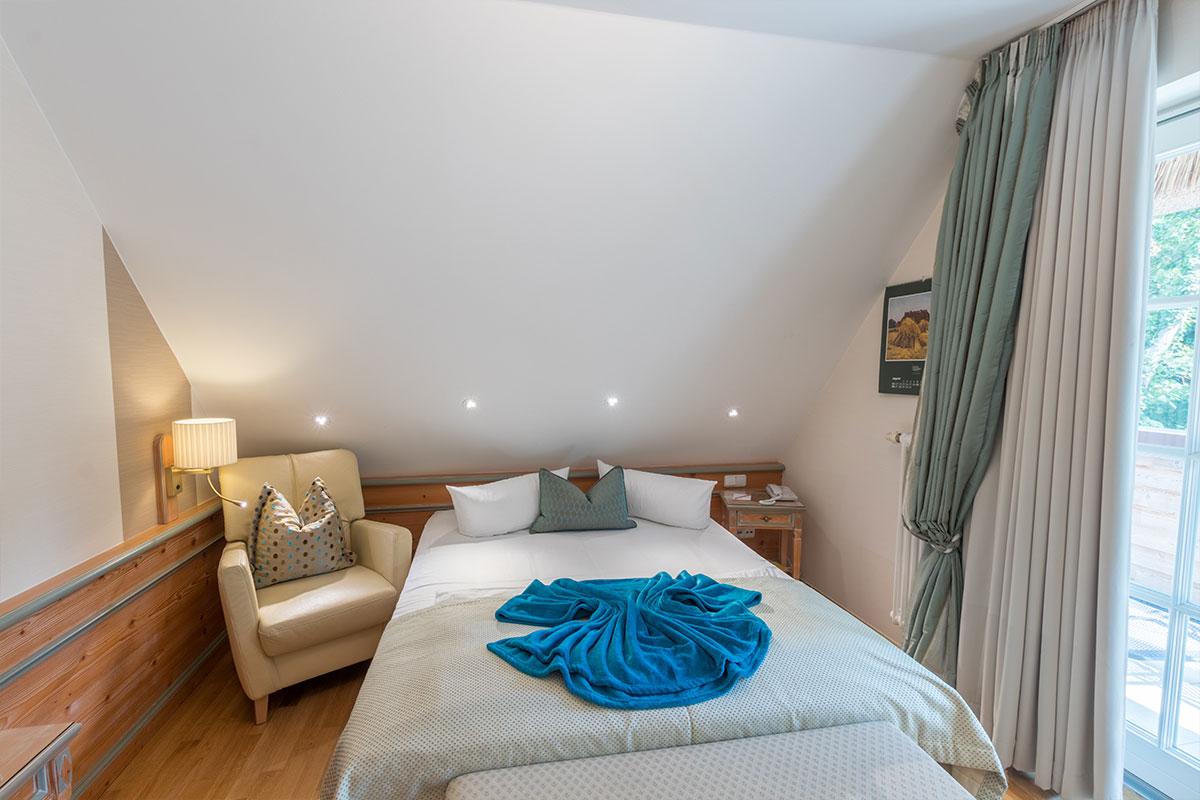 Bett für 1 -2 Personen im Einzelzimmer
