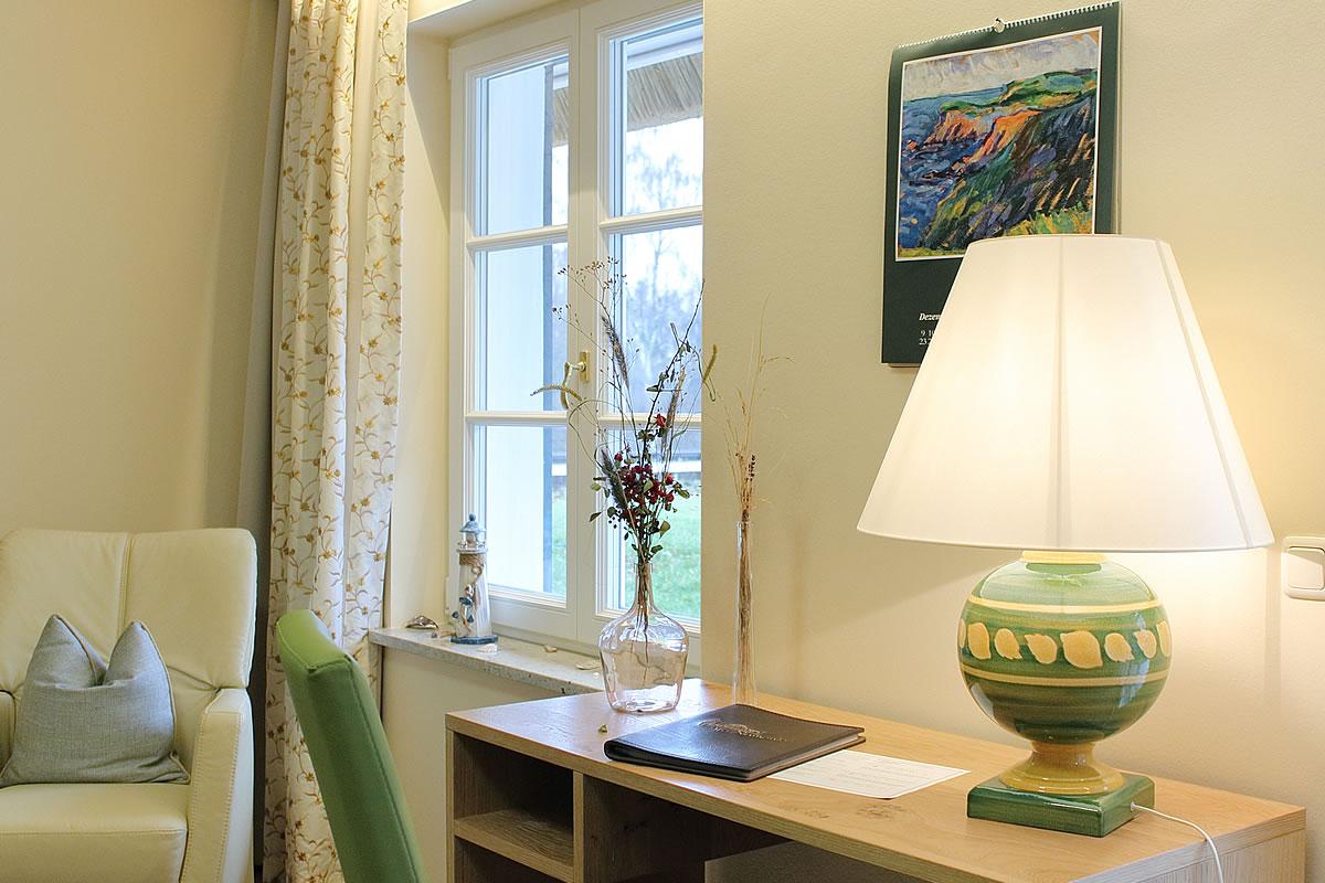Kleiner Schreibtisch, Suite im Hotel Fischerwiege