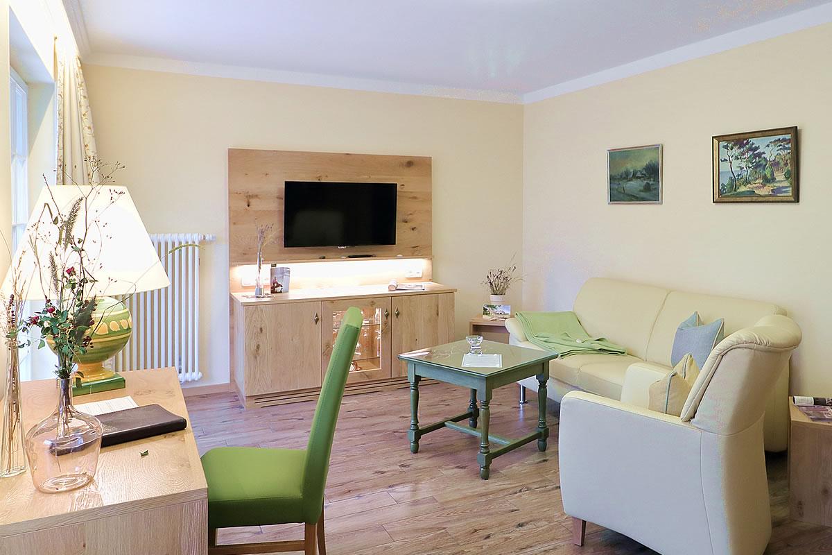 Wohnbereich, Suite im Hotel Fischerwiege