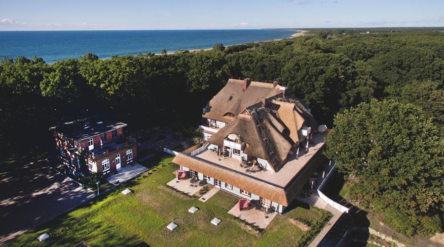 Haus Fischerwiege, Drohnenaufnahme, Blickrichtung Nord-West