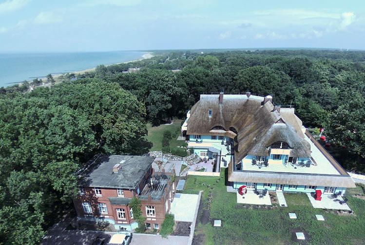 Haus Fischerwiege, Drohnenaufnahme, Blickrichtung Norden
