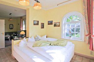 Schlafbereich im Gäste-Appartement