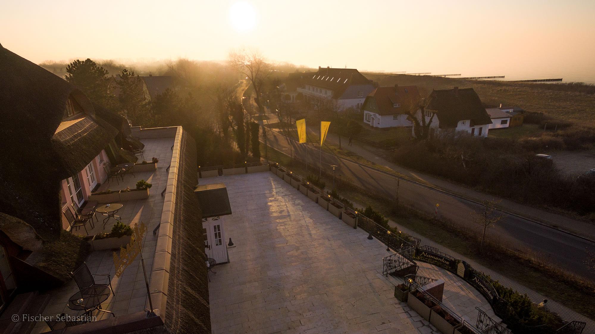 Hotel Namenlos, Blickrichtung Süden, Drohnenfoto
