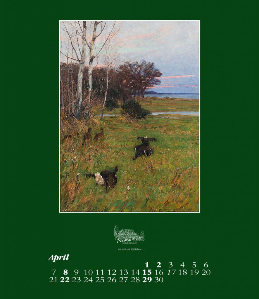 Kunstkalender 2018 Friedrich Wachenhusen, April