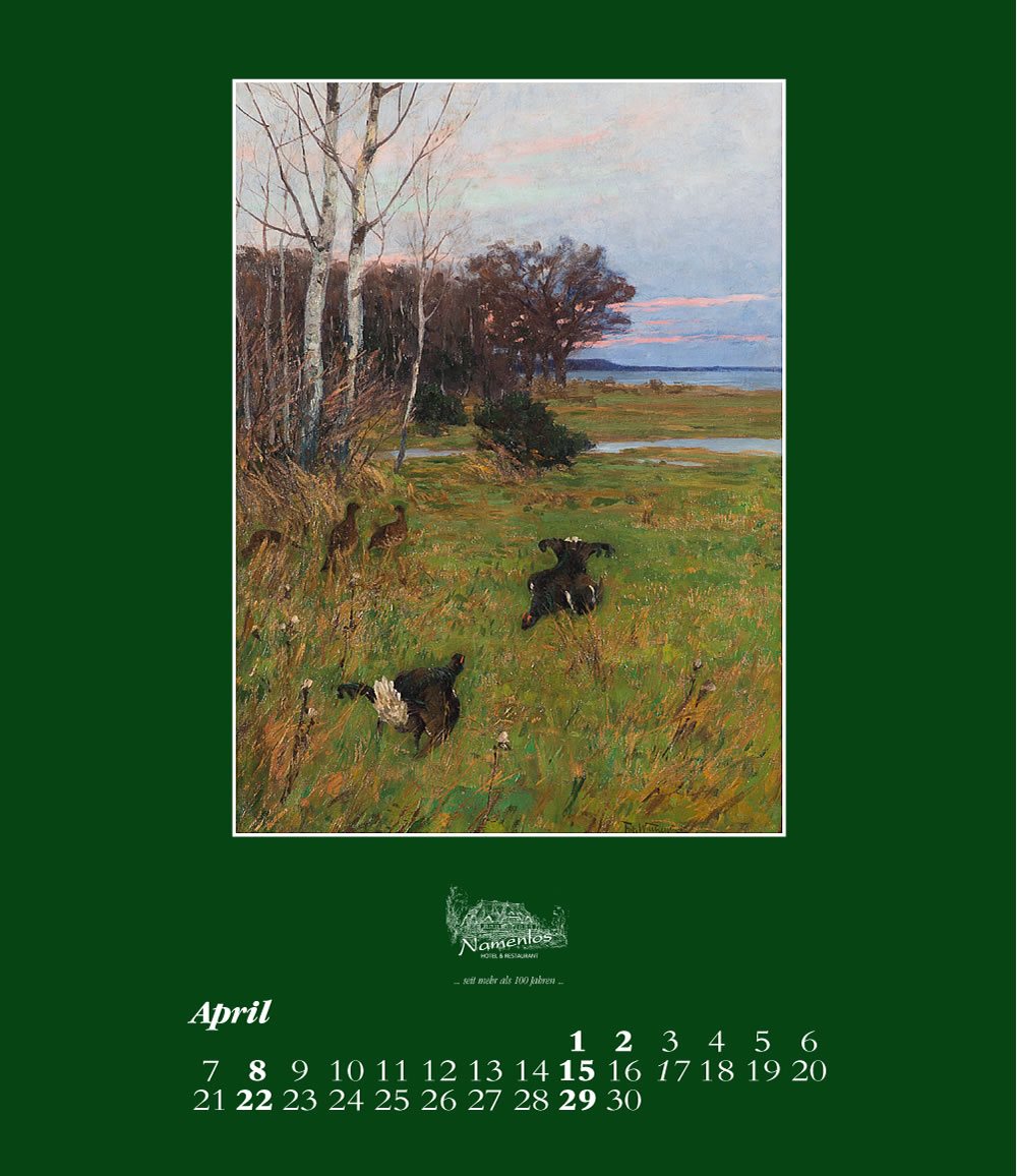Kunstkalender 2018 Friedrich Wachenhusen, April