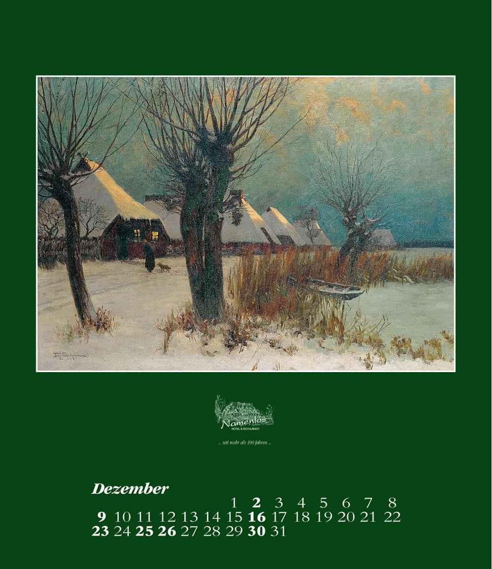 Kunstkalender 2018 Friedrich Wachenhusen, Dezember