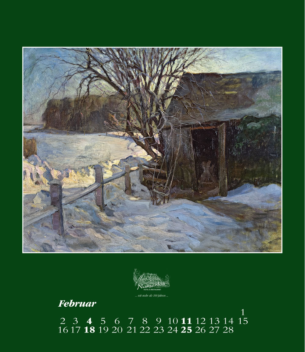 Kunstkalender 2018 Friedrich Wachenhusen, Februar