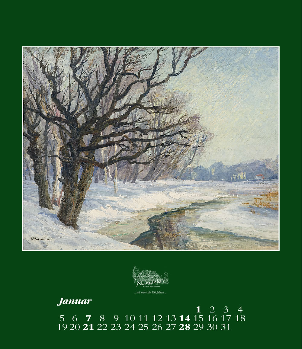 Kunstkalender 2018 Friedrich Wachenhusen, Januar