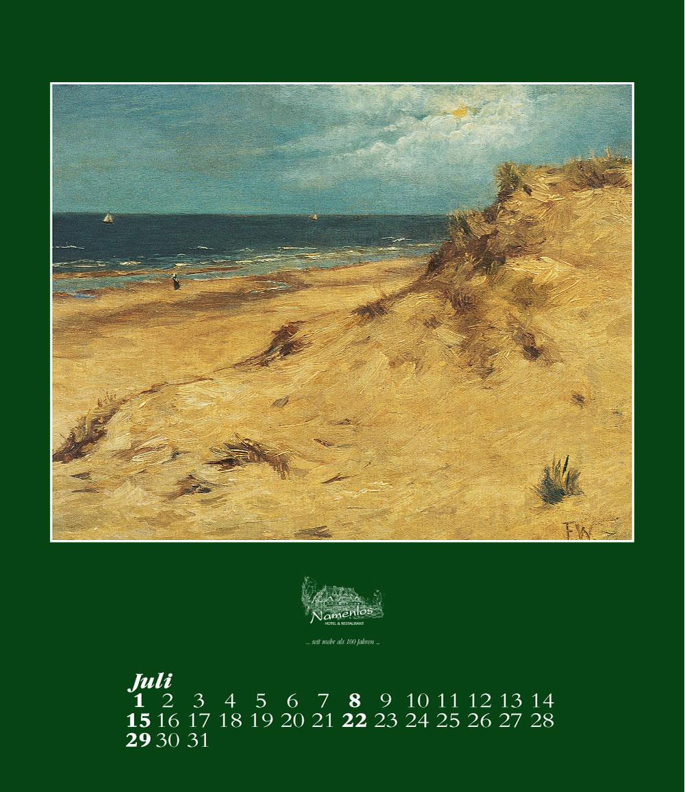 Kunstkalender 2018 Friedrich Wachenhusen, Juli