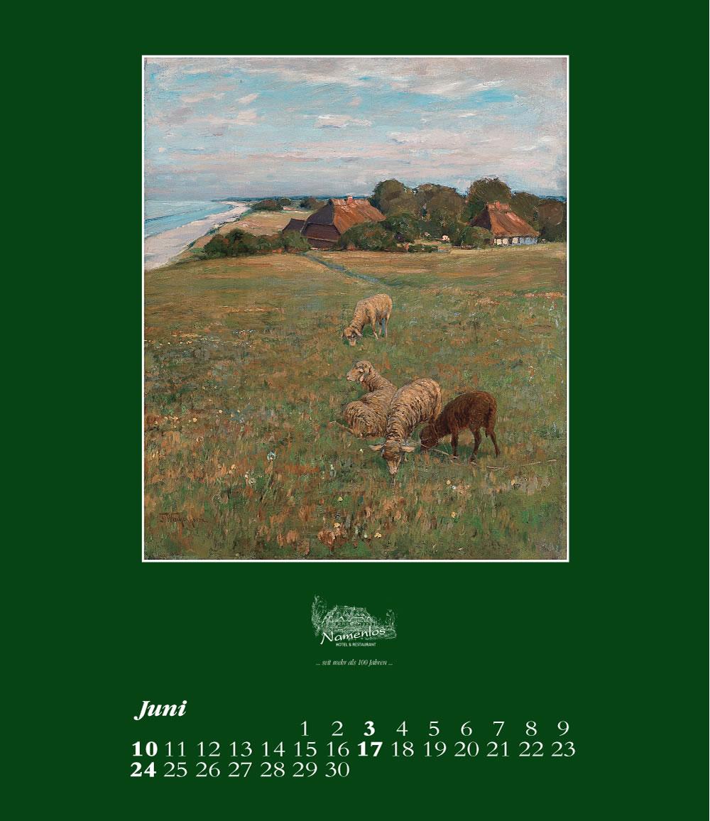 Kunstkalender 2018 Friedrich Wachenhusen, Juni