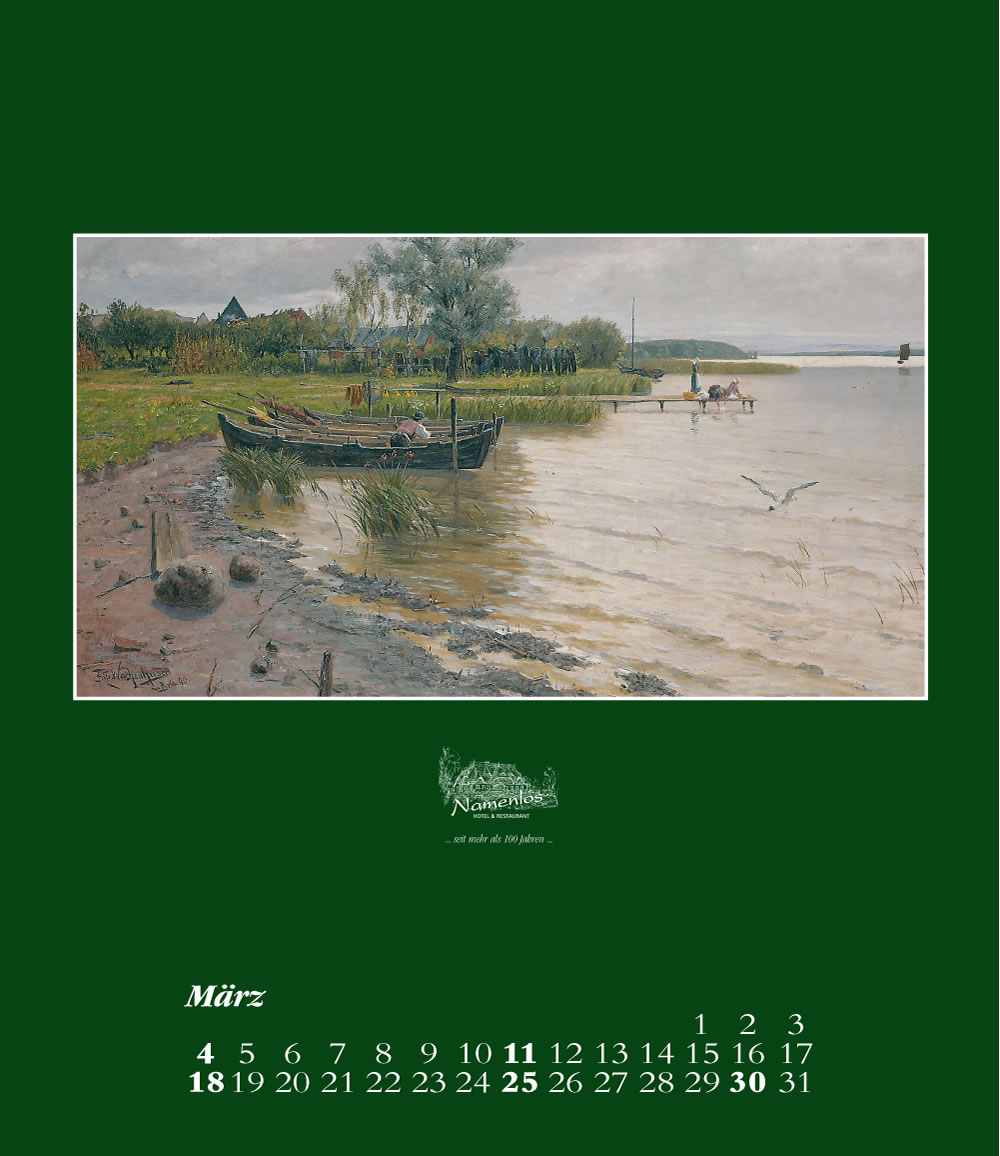 Kunstkalender 2018 Friedrich Wachenhusen, März