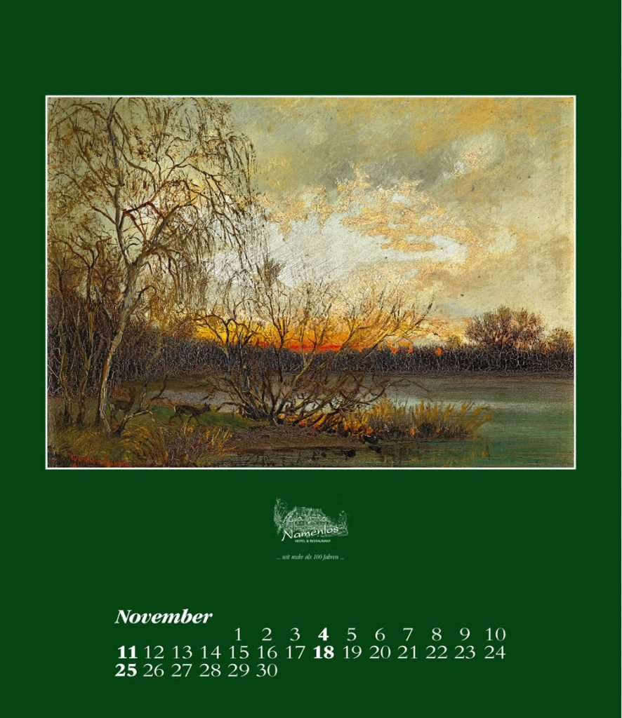 Kunstkalender 2018 Friedrich Wachenhusen, November