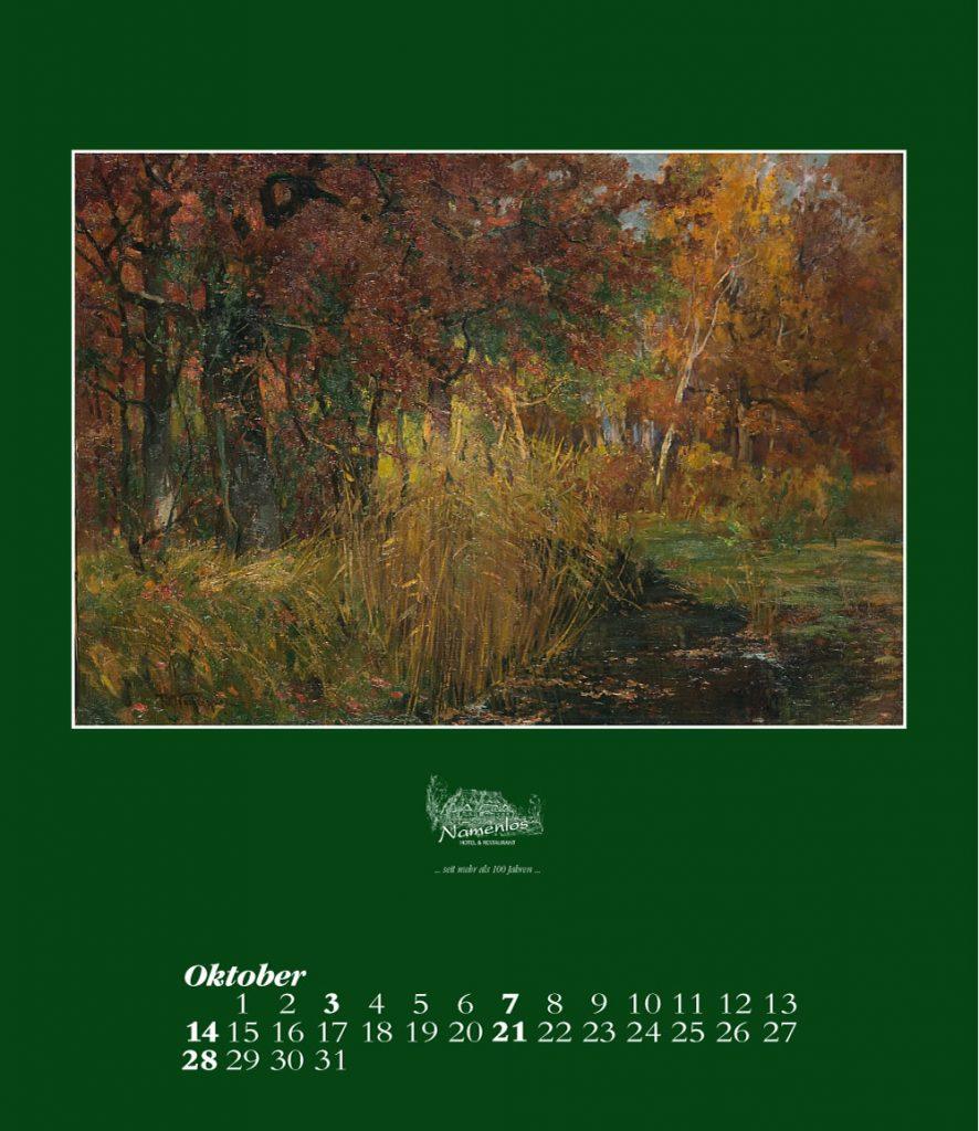 Kunstkalender 2018 Friedrich Wachenhusen, Oktober