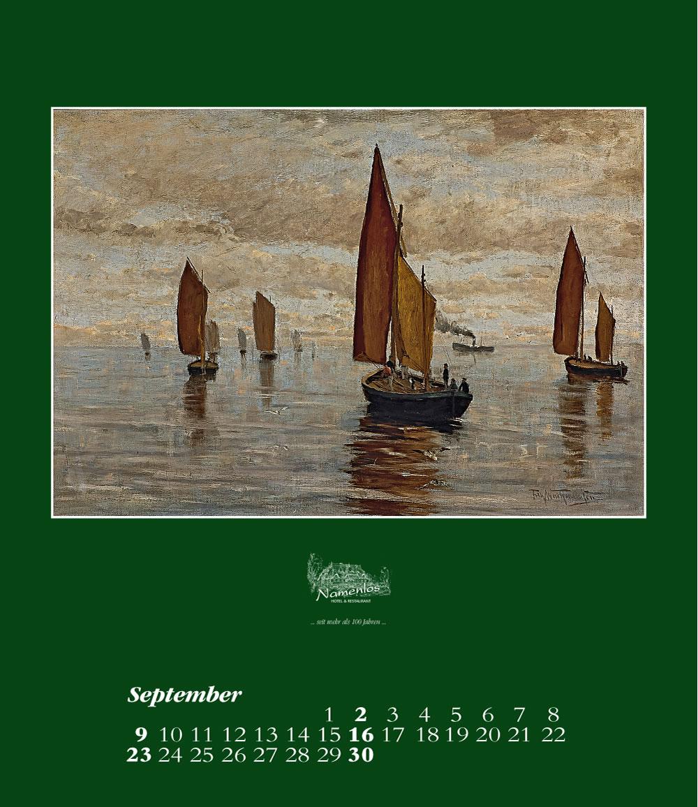 Kunstkalender 2018 Friedrich Wachenhusen, September