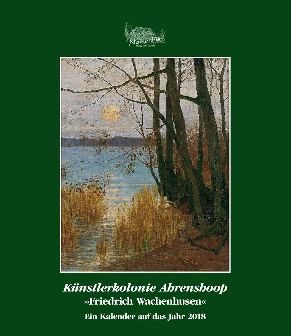 Kunstkalender 2018 Friedrich Wachenhusen, Titelblatt