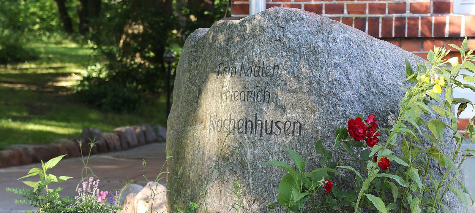Gedenkstein für den Maler Friedrich Wachenhusen