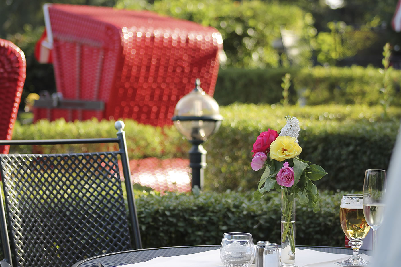 Sommer-Grillen im Frühstücksgarten der Fischerwiege