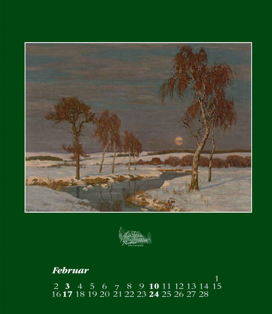 Kunstkalender 2019, Februar