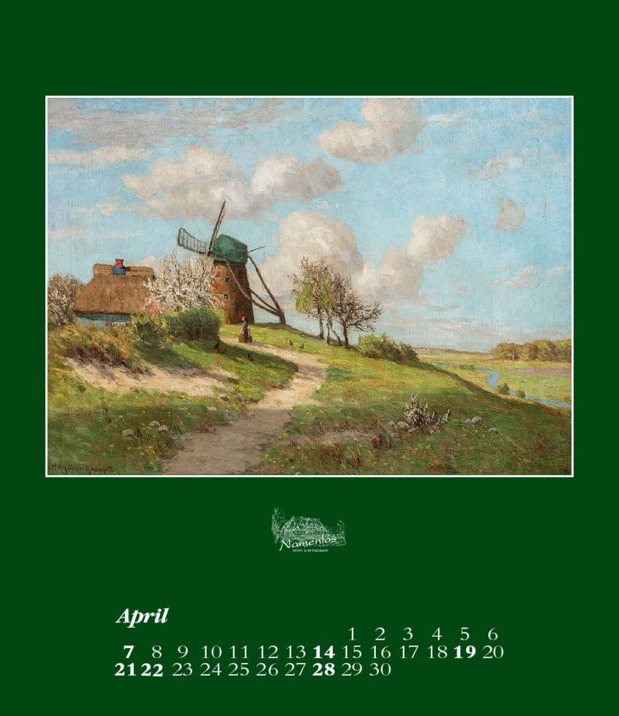 Kunstkalender 2019, April
