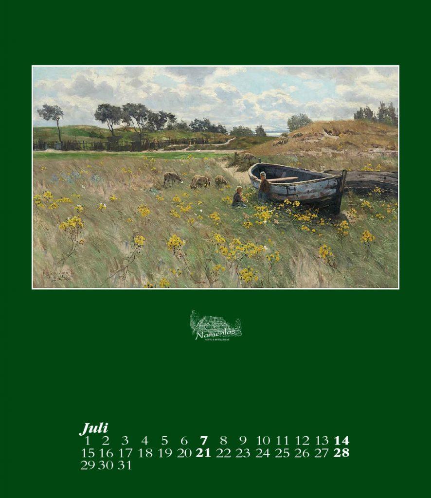 Kunstkalender 2019, Juli