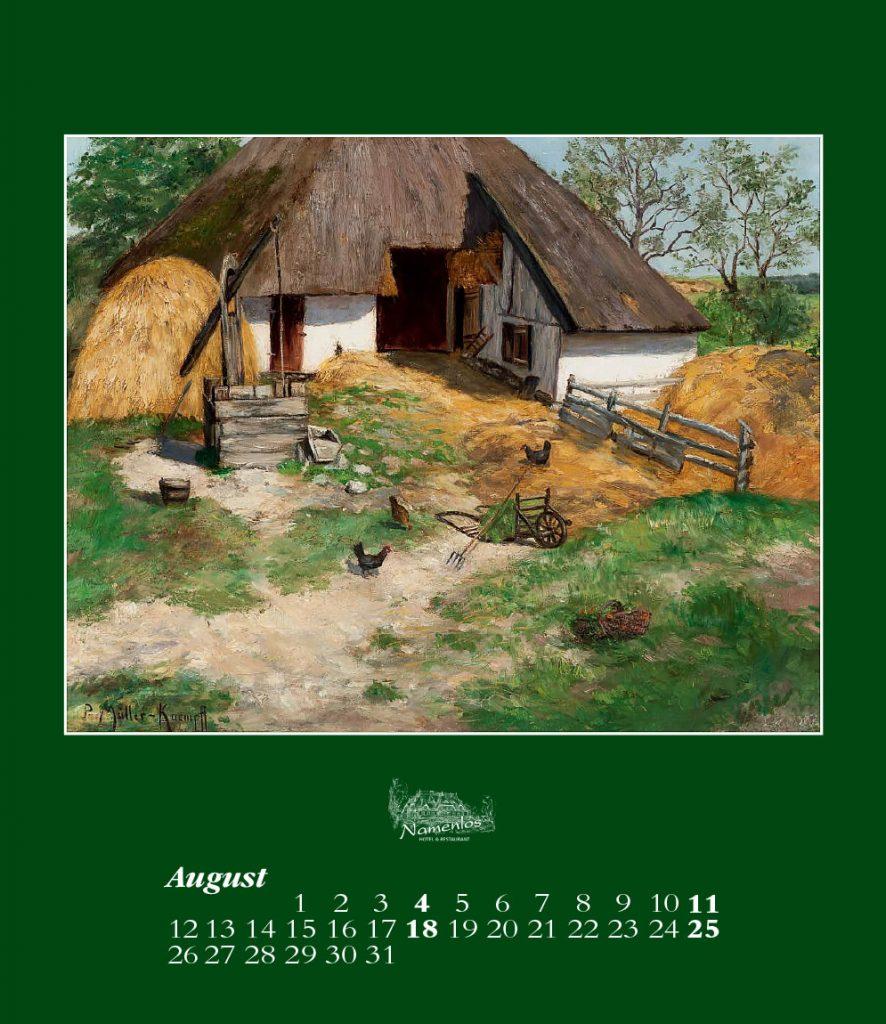 Kunstkalender 2019, August