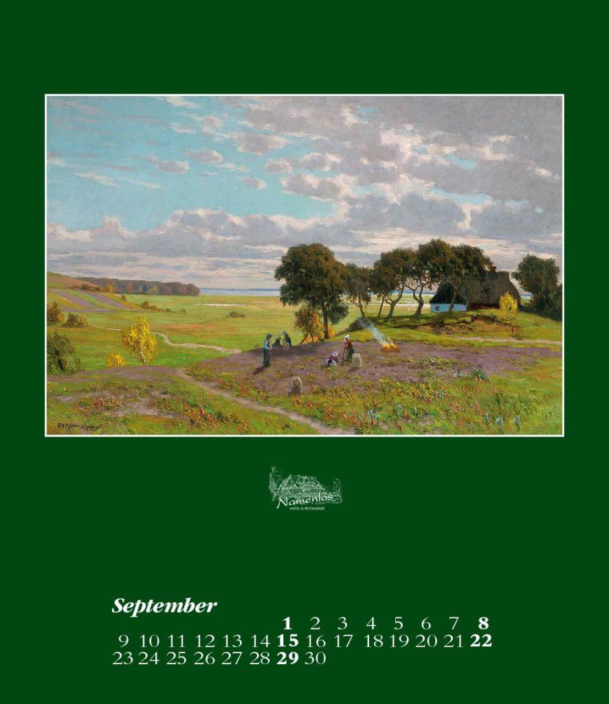 Kunstkalender 2019, September