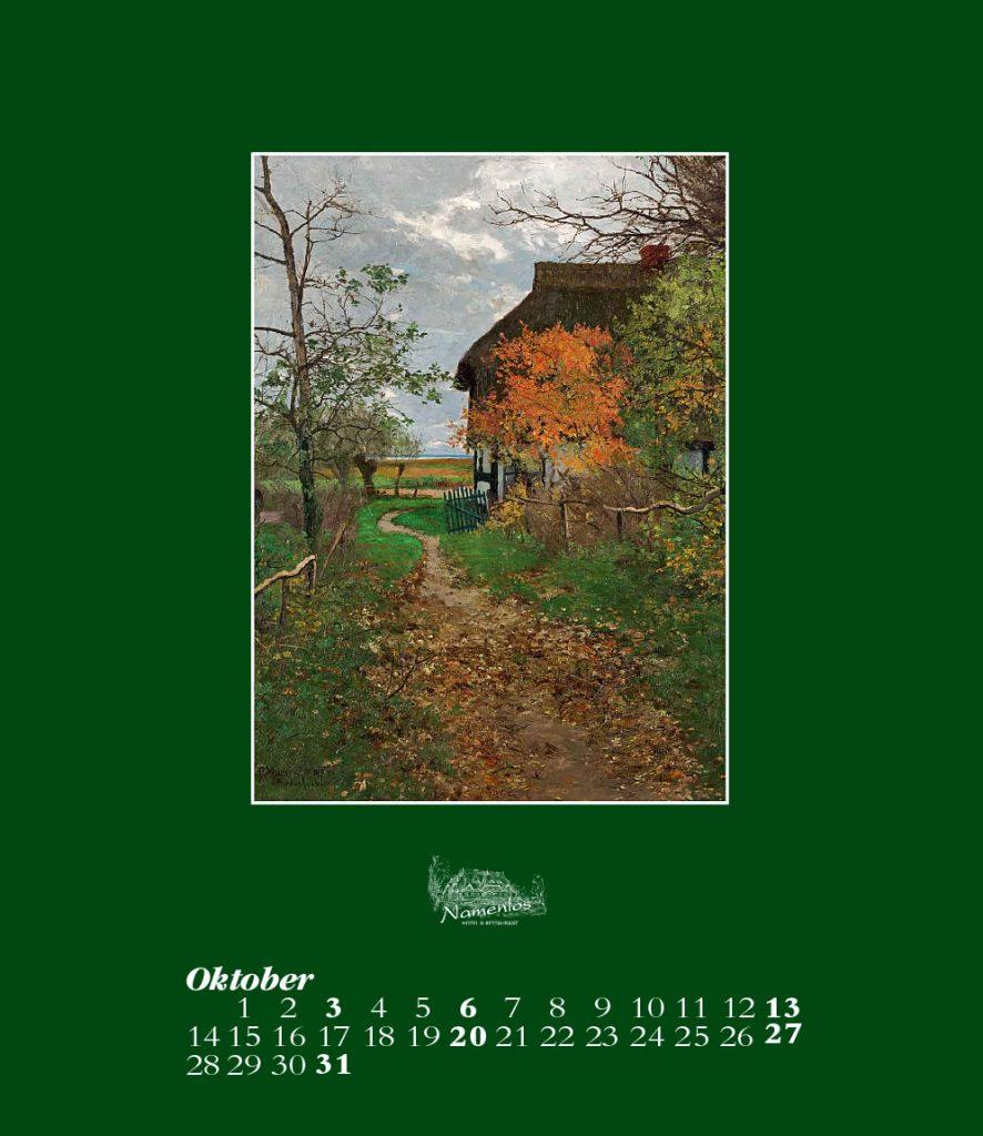 Kunstkalender 2019, Oktober