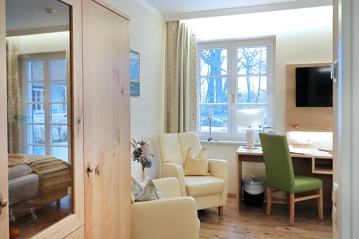 Wohnbereich in oppelzimmer, Hotel Fischerwiege