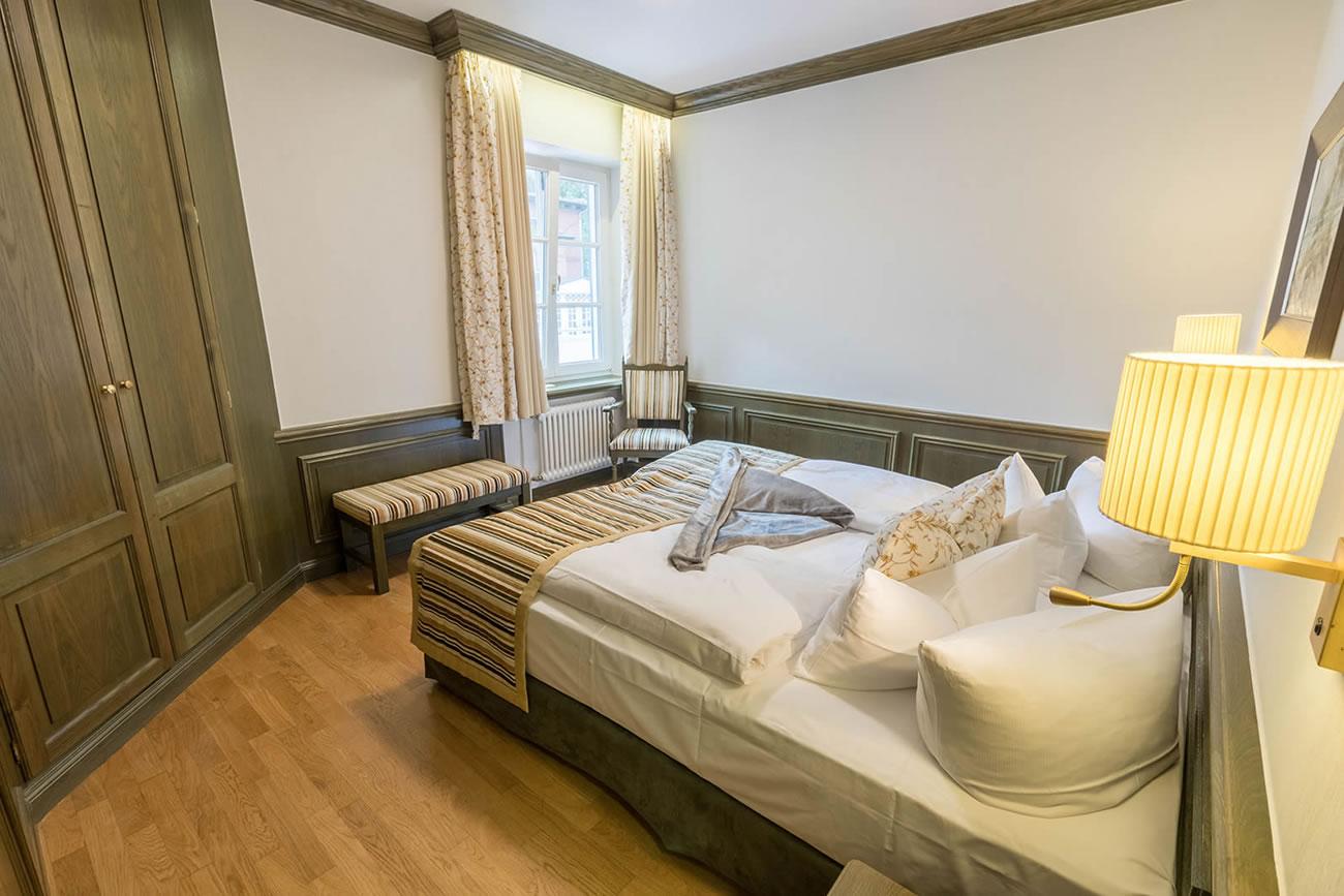 Schlafbereich in Suite