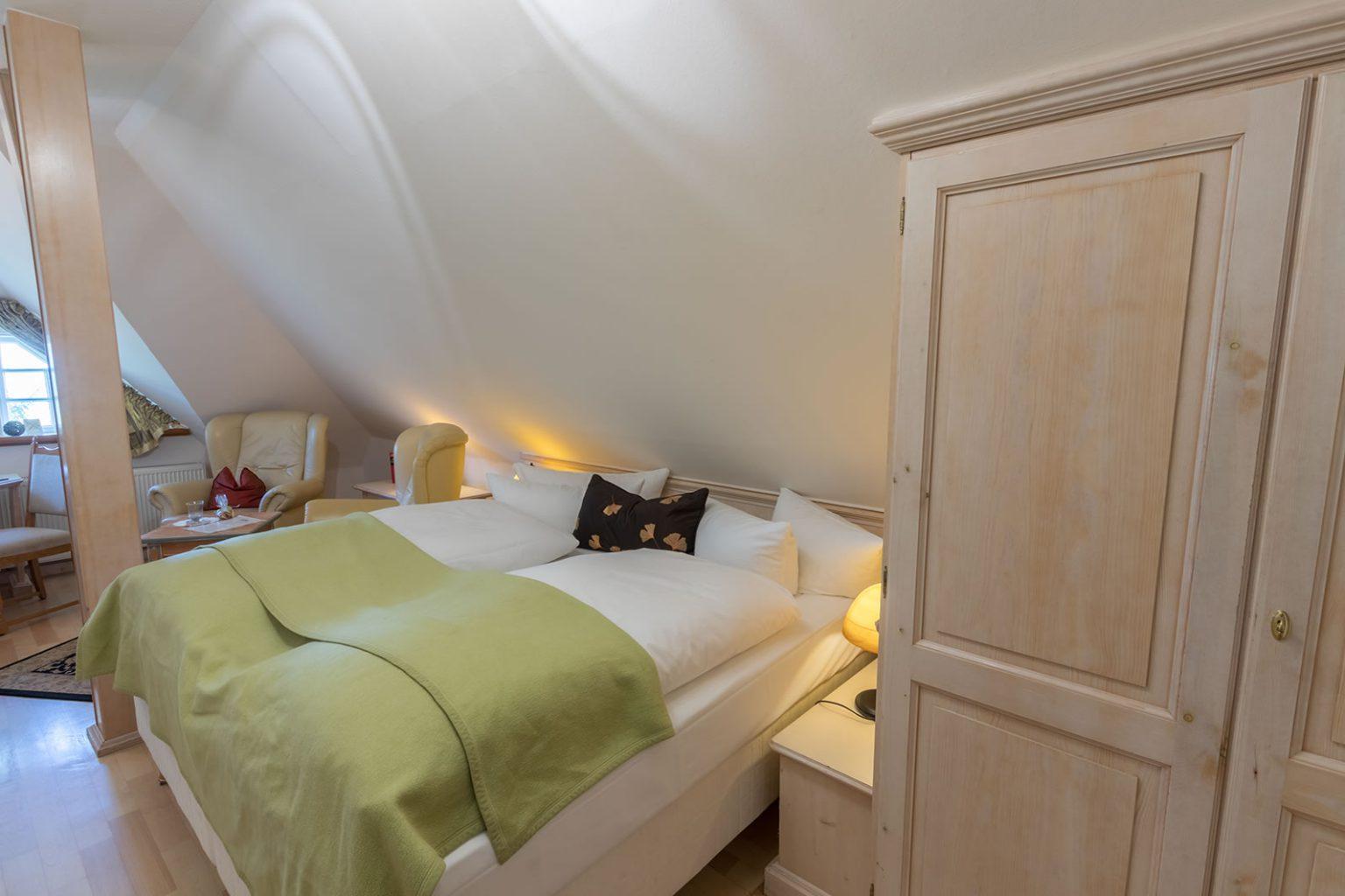 Schlafbereich im Doppelzimmer