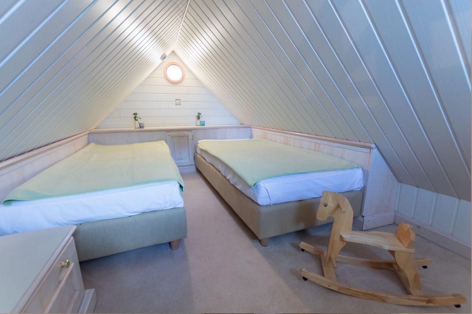 Kinderschlafbereich oben in Familiensuite über 2 Etagen