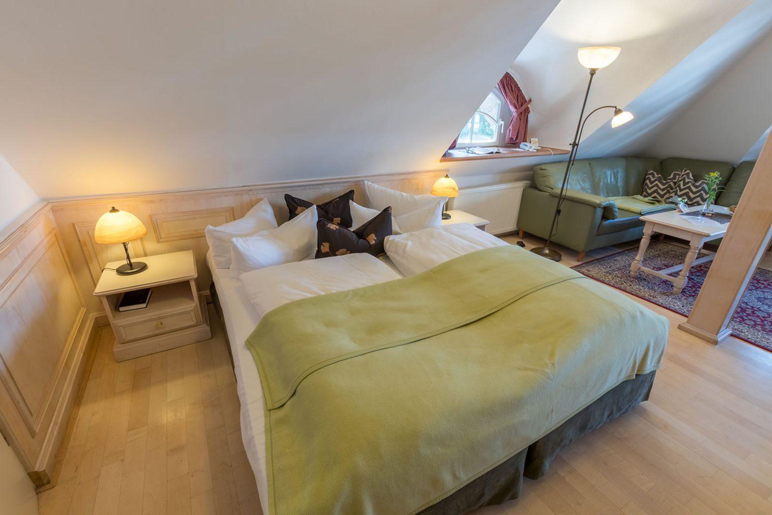 Schlafbereich untere Etage Familiensuite