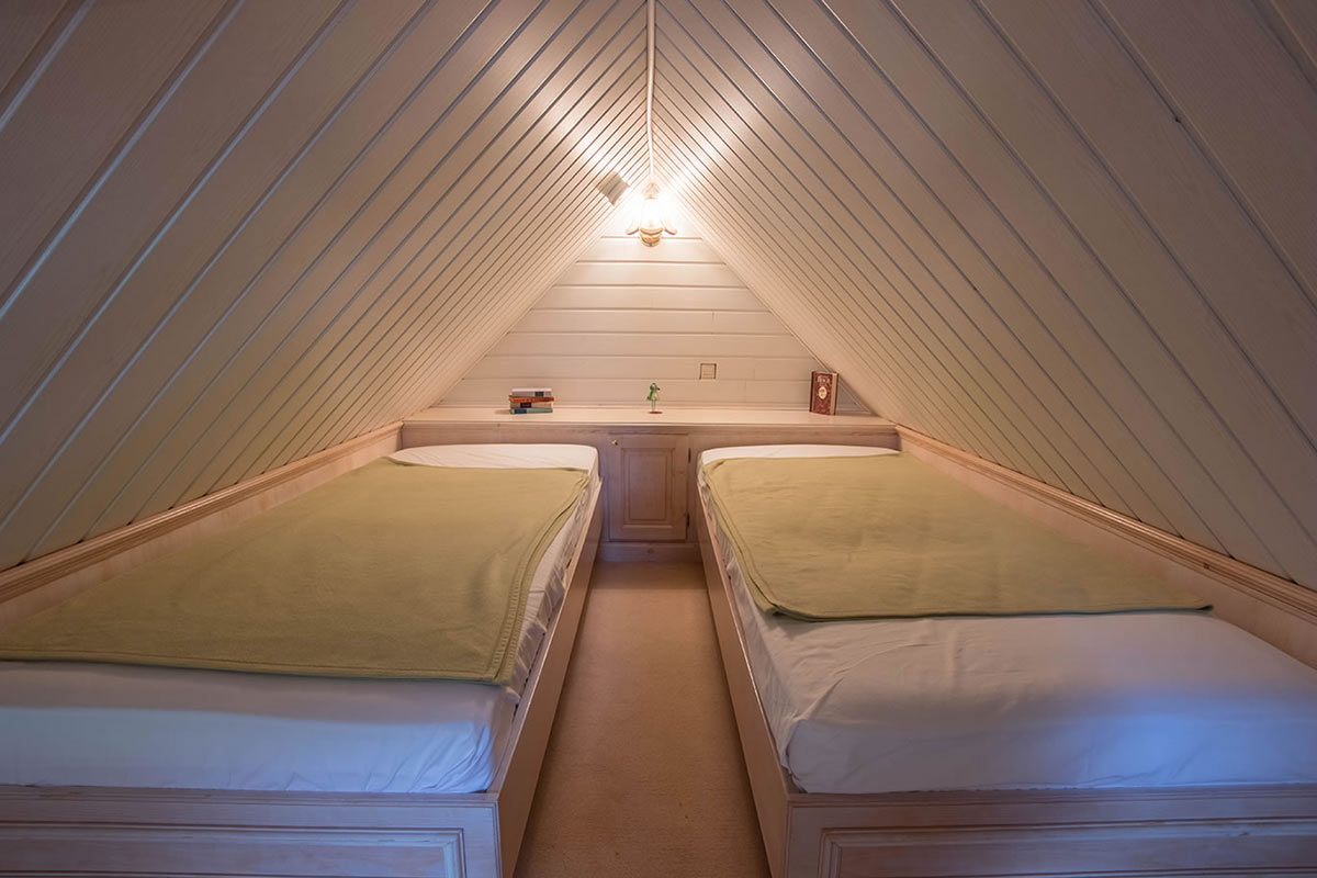 Kinderschlafbereich in der oberen Etage