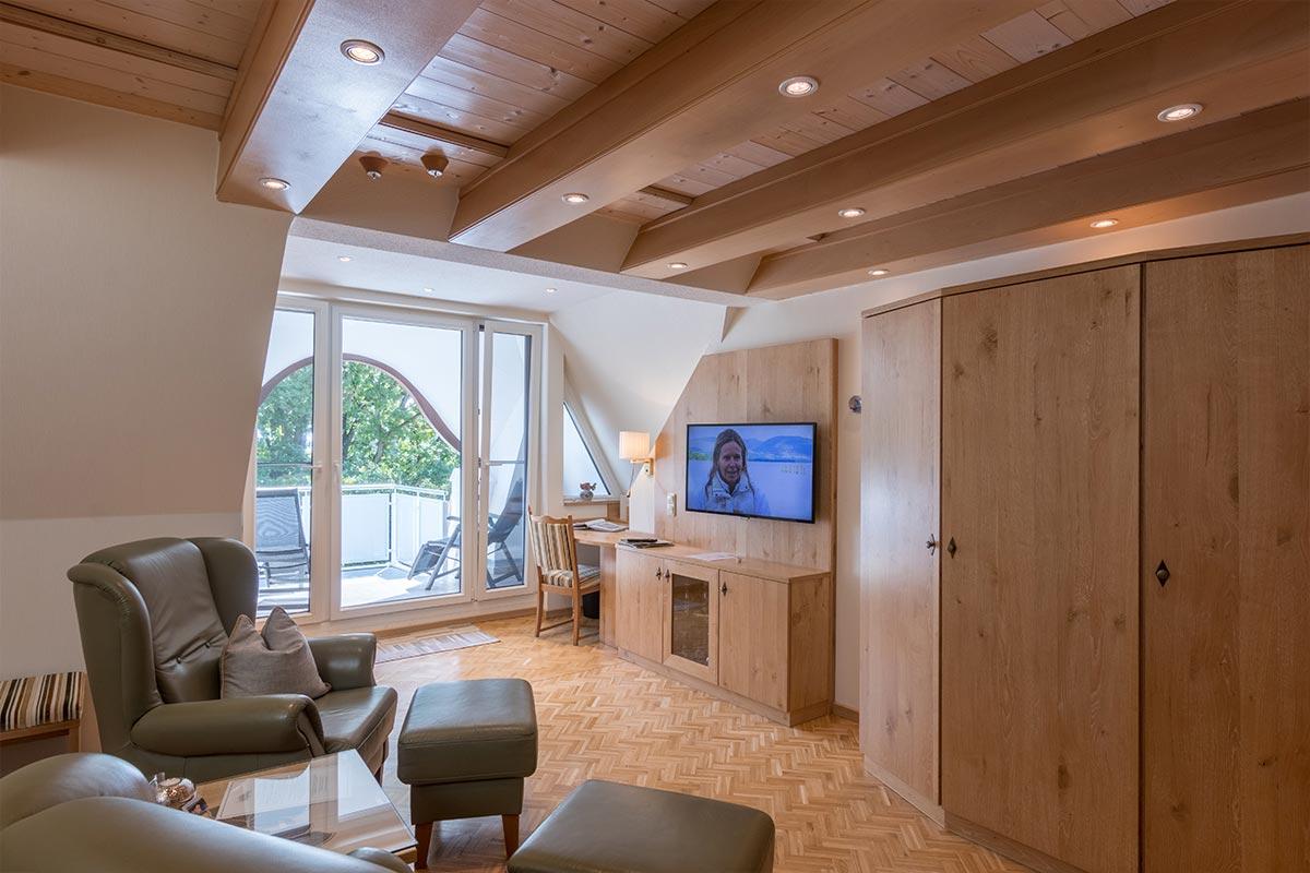 Wohnbereich, unten in Juniorsuite, Hotel Fischerwiege