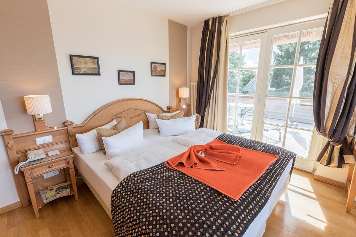 Schlafbereich in Juniorsuite de Luxe